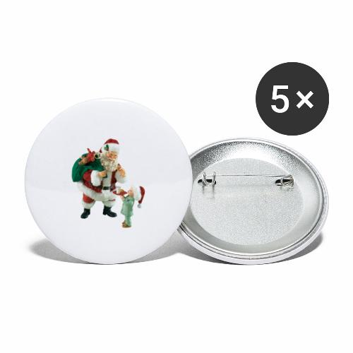 Christmas Night - Stora knappar 56 mm (5-pack)
