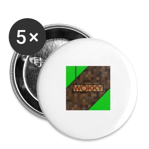 Wokky T Shirt - Stora knappar 56 mm (5-pack)