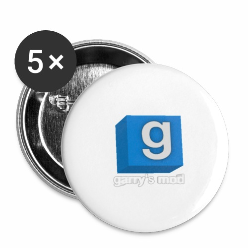 Gmod - Lot de 5 grands badges (56 mm)