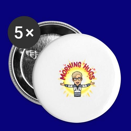 Morning Hugz - Stor pin 56 mm (5-er pakke)