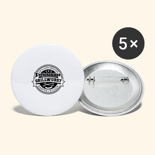 Grill T Shirt Projektleiter Grillwurst - Buttons groß 56 mm (5er Pack)