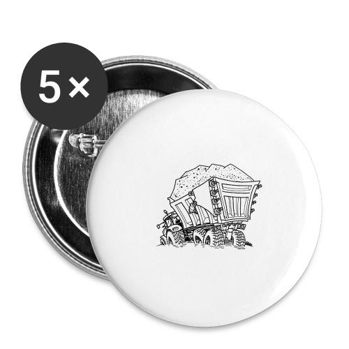 0956 trekker kar ZAND - Buttons groot 56 mm (5-pack)