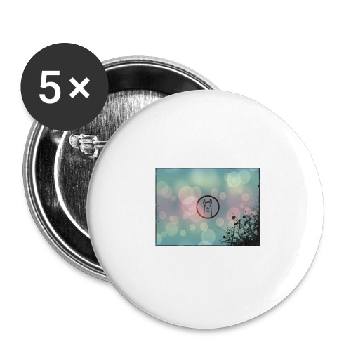 Llama in a circle - Buttons large 2.2''/56 mm (5-pack)