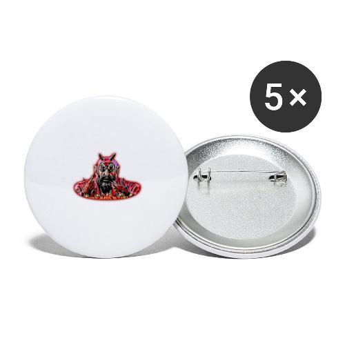 DEMONIO - Paquete de 5 chapas grandes (56 mm)