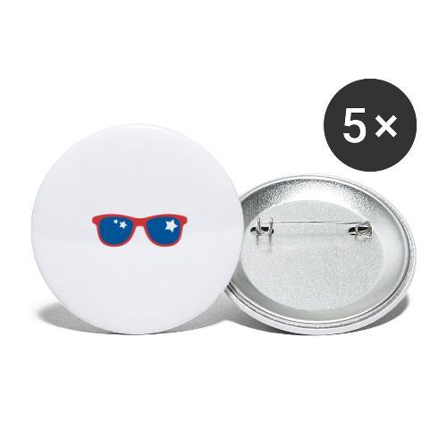 POP ART - Stars and glass - Lot de 5 grands badges (56 mm)