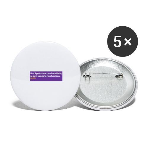 barzelletta - Confezione da 5 spille grandi (56 mm)