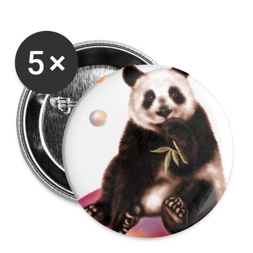 Panda World - Confezione da 5 spille grandi (56 mm)