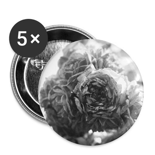 Rosen - Buttons groß 56 mm (5er Pack)