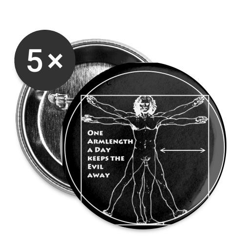 leonardo eigen - Buttons groß 56 mm (5er Pack)