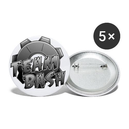 TeamBasH clan Logo - Buttons groß 56 mm (5er Pack)