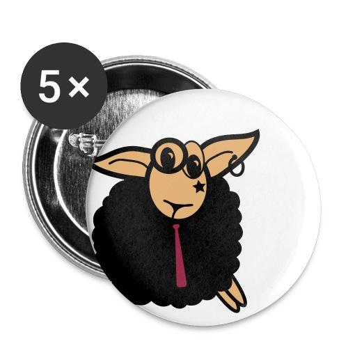 Punk Schaf - Buttons groß 56 mm (5er Pack)