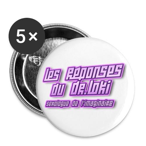 dr loki titre png - Lot de 5 grands badges (56 mm)