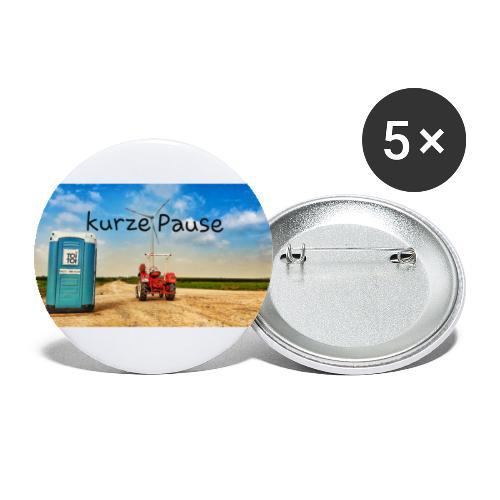 kurze Pause - Buttons groß 56 mm (5er Pack)