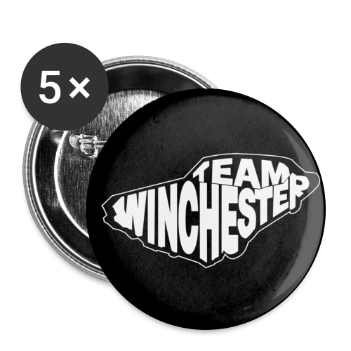 Team Winchester (dark) Buttons - Buttons large 2.2''/56 mm (5-pack)