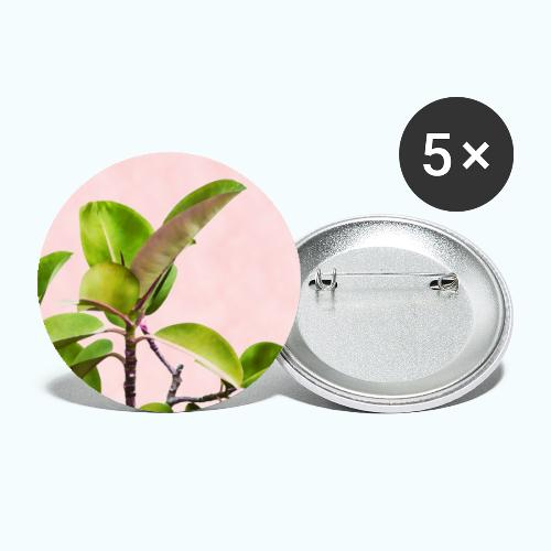 Rubber tree leaf minimalism watercolor - Buttons large 2.2''/56 mm(5-pack)