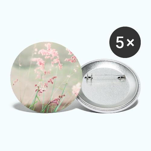 Summer meadow watercolor nature - Buttons large 2.2''/56 mm(5-pack)