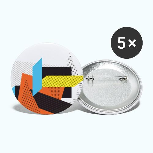 Vintage shapes abstract - Buttons large 2.2''/56 mm(5-pack)