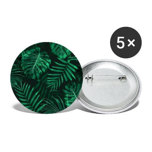 Tropischer Farn Topen Regenwald Blätter - Buttons groß 56 mm (5er Pack)