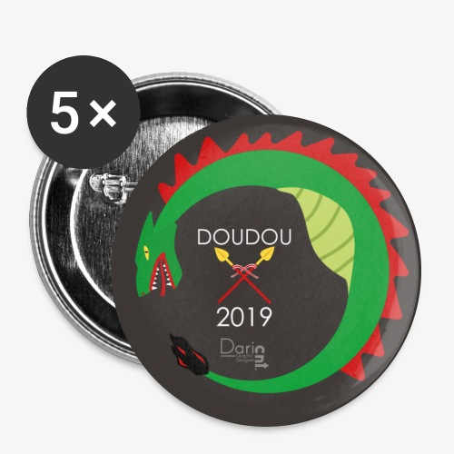 Doudou 2019 - Lot de 5 grands badges (56 mm)
