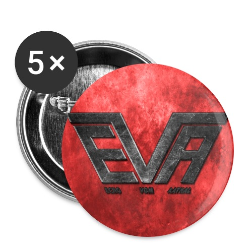 EVA Logo farbig - Buttons groß 56 mm (5er Pack)