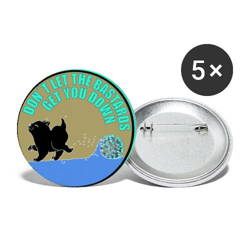 Cat vs. Virus - Buttons groß 56 mm (5er Pack)