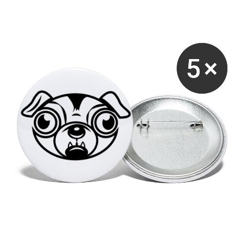Mops - Buttons groß 56 mm (5er Pack)