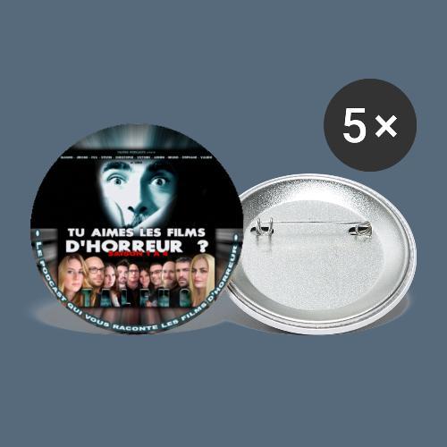 Badge Tu aimes les films d'horreur ? Saison 4 - Lot de 5 grands badges (56 mm)