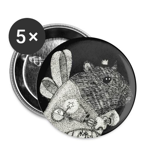 Hada de los dientes / Ratón Pérez - Paquete de 5 chapas grandes (56 mm)