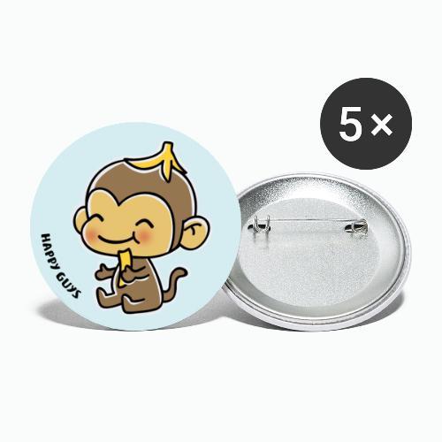 Affe - Buttons groß 56 mm (5er Pack)