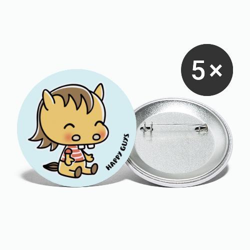 Pferd - Buttons groß 56 mm (5er Pack)