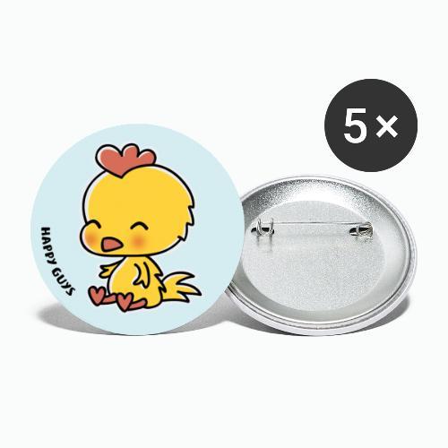 Hahn - Buttons groß 56 mm (5er Pack)