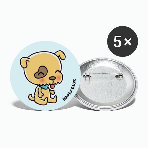 Hund - Buttons groß 56 mm (5er Pack)