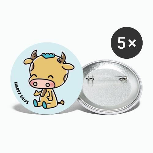 Ochse - Buttons groß 56 mm (5er Pack)