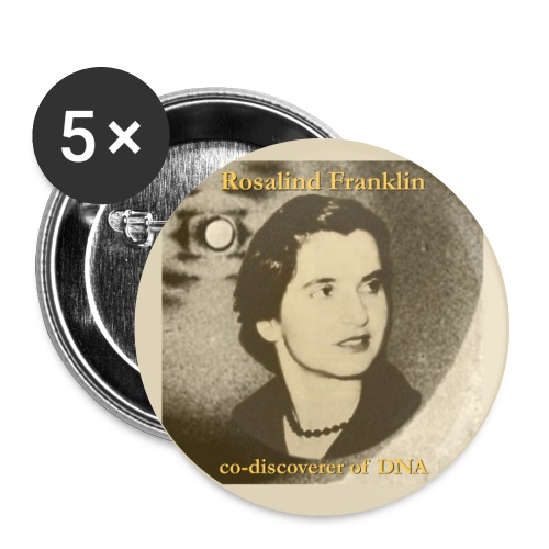 rosalind franklin button - Buttons large 2.2''/56 mm (5-pack)
