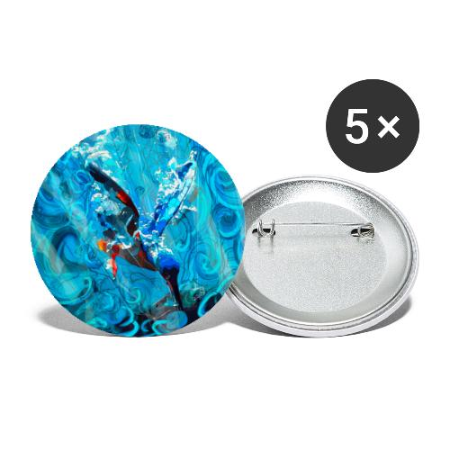 kingfisher dive - fishing - Buttons large 2.2''/56 mm(5-pack)