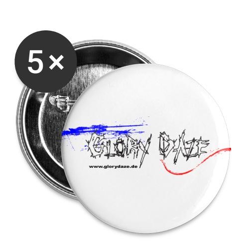 GloryDaze Pixel Outline mA - Buttons groß 56 mm (5er Pack)