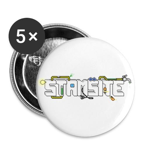 STAMSITE Logo - Stora knappar 56 mm (5-pack)