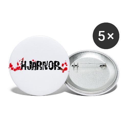 Hjärnor logo svart - Stora knappar 56 mm (5-pack)