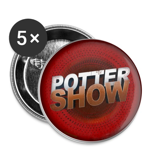 PotterShowAutocollant copie png - Lot de 5 grands badges (56 mm)