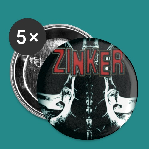 Zinker CD Cover - Buttons groß 56 mm (5er Pack)