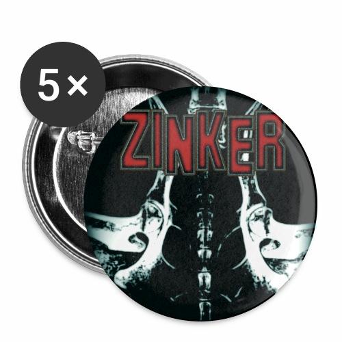 Zinker CD Cover - Buttons groß 56 mm (5er Pack)