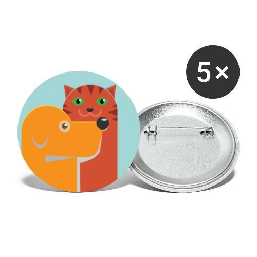 Tierfreund - Buttons groß 56 mm (5er Pack)
