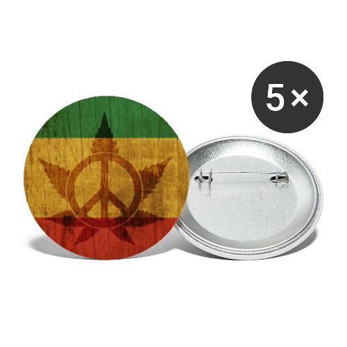 Peace Poster - Buttons groß 56 mm (5er Pack)