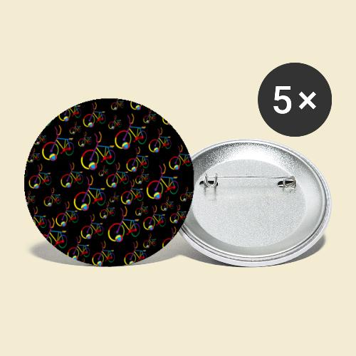 Radball | Cycle Ball Rainbow | Muster - Buttons groß 56 mm (5er Pack)