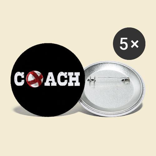 Radball Coach | Muster - Buttons groß 56 mm (5er Pack)