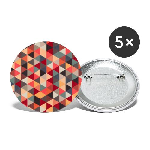 00301 Pattern triangles 3 texture - Paquete de 5 chapas grandes (56 mm)