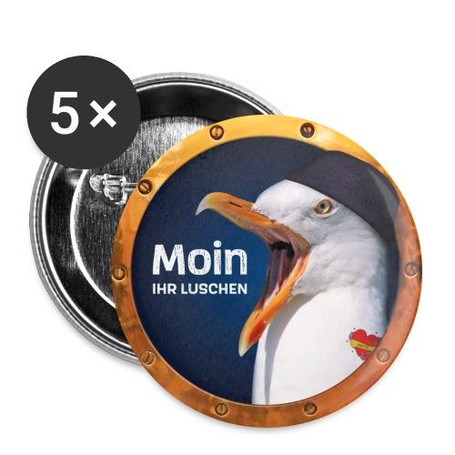 Moin ihr Luschen! - Buttons groß 56 mm (5er Pack)
