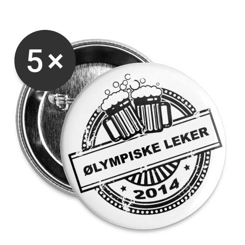 logo gif - Stor pin 56 mm (5-er pakke)