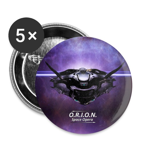 Eos - Buttons groß 56 mm (5er Pack)