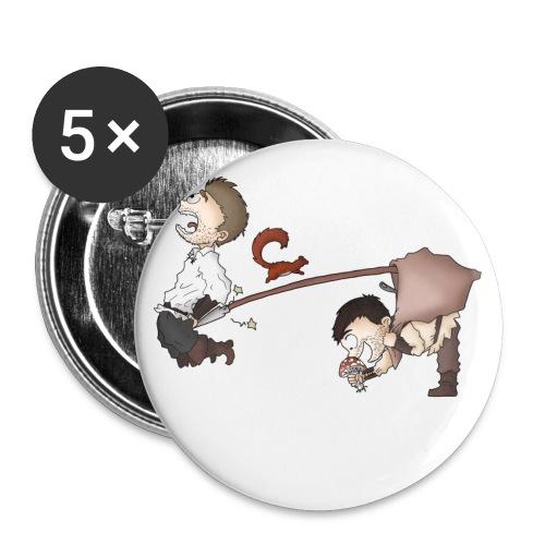 spear - Lot de 5 grands badges (56 mm)